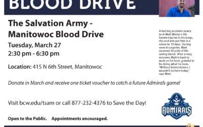 Salvation Army/Manitowoc March Blood Drive