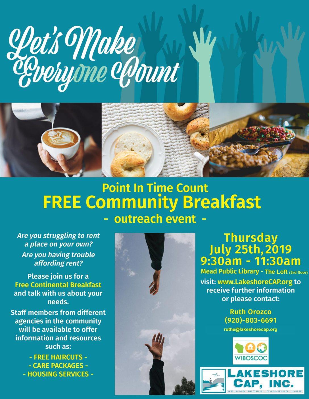Sheboygan PIT Outreach Breakfast-July 25th