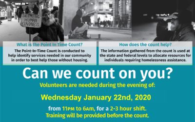 VOLUNTEER! Jan 22 Point in Time Homeless Count
