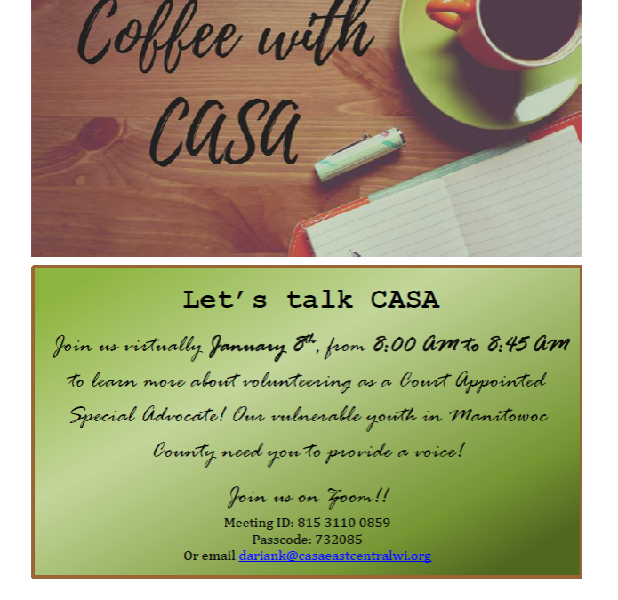 Coffee with CASA-Manitowoc