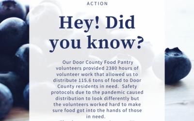 VOLUNTEER OPPORTUNITY! Door County Food Pantry