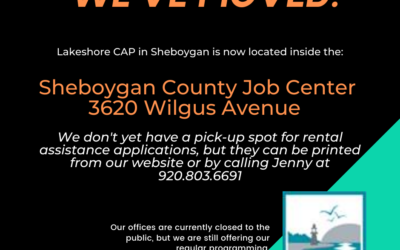 Sheboygan Office Moved!