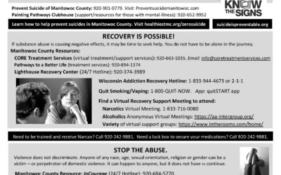 Manitowoc Co Mental Health/Abuse Resources