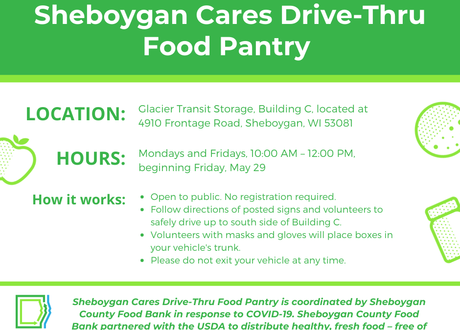 Sheboygan Cares Drive-Thru Food Pantry