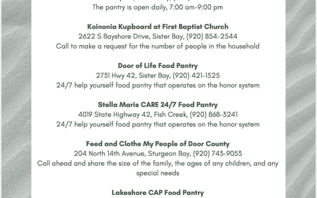Lakeshore CAP & Door Co Food Pantries