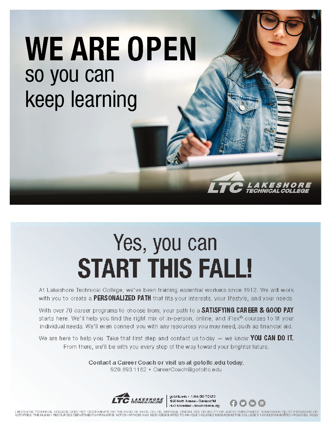 LTC Opening for Fall Classes