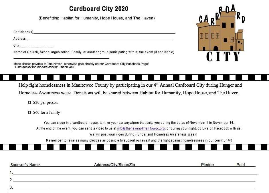 2020 Cardboard City for Homeless