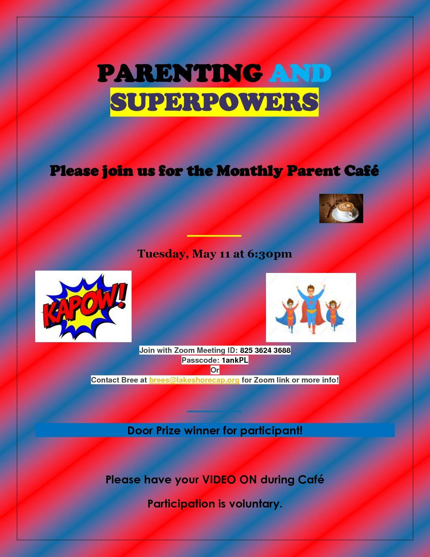 Manitowoc Co Virtual Parent Cafe Tonight!
