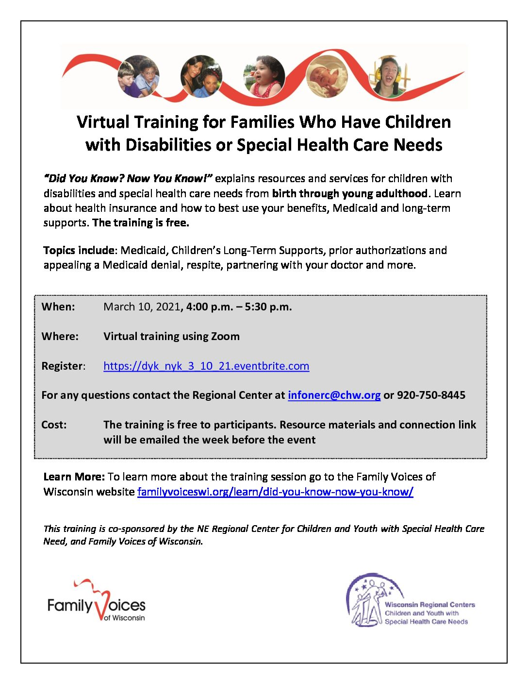 Families with Special Needs/Disabilities Children