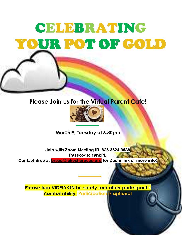 March 9th Virtual Parent Cafe