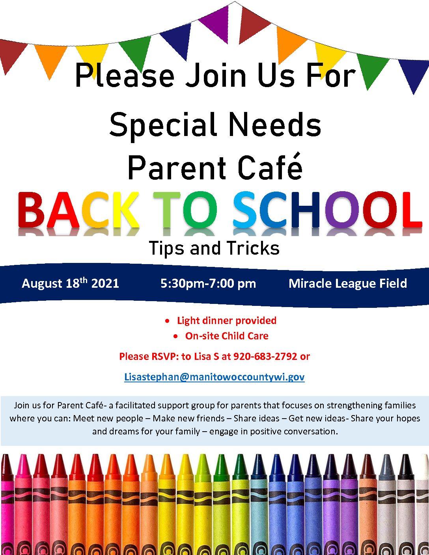 Parent Café ~ Back to School ~ Tips and Tricks